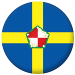 Pembrokeshire County Flag 58mm Button Badge